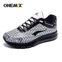 ONEMIX Running Shoes For Men 2019 Summer New Arrival Breathable Mesh Air Cushion Sports Shoes Outdoor Jogging Sneakers Size 47