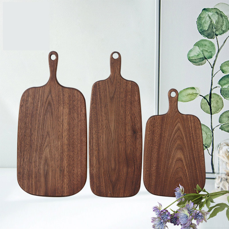 Hippo Home Black Walnut Chopping Blocks Kitchen Wood Food Plate Wooden Pizza Sushi Bread Whole Wood