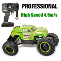 2.4G 4CH 4WD RC Car Rock Crawlers 4x4 Driving Car Double Motors Drive Bigfoot Car Remote Control Car Model Off Road Vehicle Toy