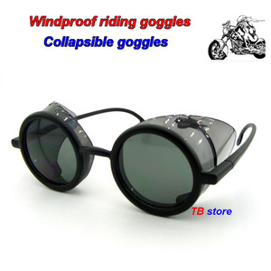 Image 1 - 12235 protective glasses Windproof dust proof Shockproof safety goggles Collapsible Avant garde fashion Cycling goggles