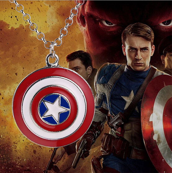 Usa Steampunk Movie Captain America necklace The First Avenger Pendant 1pcs/lot chain Pendant jewelry hot necklace fashion mens image