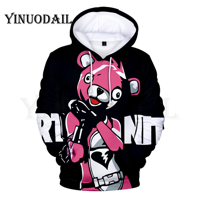 100cm-160cm Parent-Child 3D Hoodies Bear Hoodie For Kids Sudaderas Para Hombre 3dstreetwear