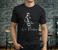 New Popular ACE FREHLEY KISS GUITARIST LEGEND Men's Black T Shirt S 3XL Cheap wholesale tees,100% Cotton For Man 2019 hot tees