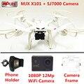 MJX RC Drone Drone X101 Grande con 12MP FPV En Tiempo Real cámara RC Drones Quadcopter Con Cámara HD de Control Remoto RC Helicóptero