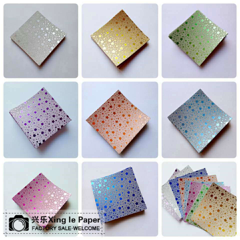 20pcs 70mm*70mm Star Origami Handmade paper For Mix colors romantic for lovers Birthday Valentine's Day gift FYJA