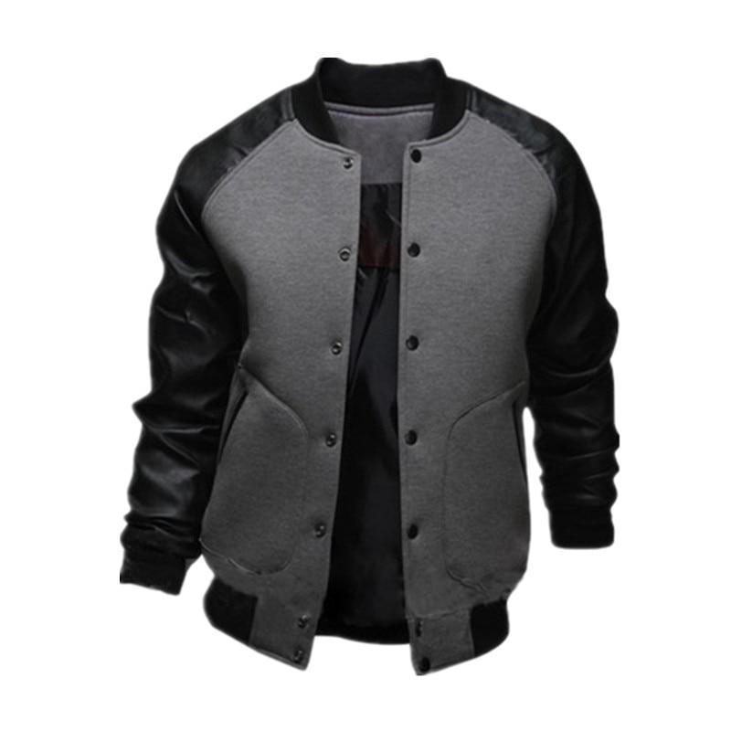 Popular Leather Baseball Jacket-Buy Cheap Leather Baseball Jacket ...