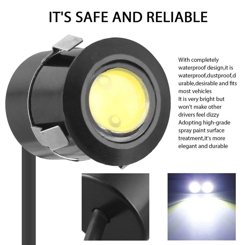 Original 1pc Reversing Radar Design Waterproof Eagle Eyes Lamp Led Locker Angel Eye Drl Lamp Car Parking Light 3w Fog Lights Car Led