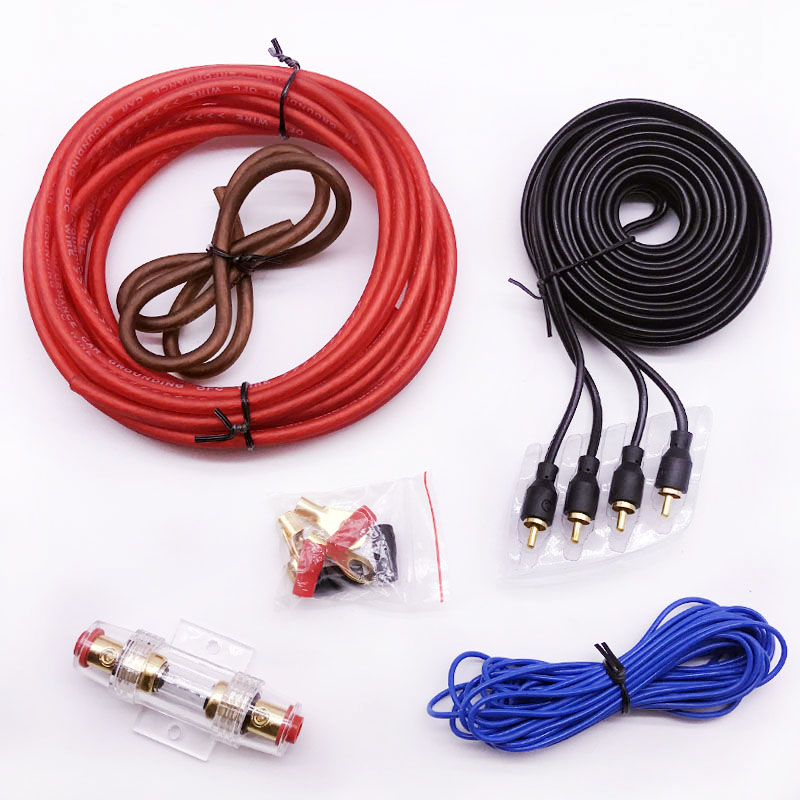 car audio speakers wiring kits cable amplifier subwoofer speaker  installation wires kit 8 caliber power cable