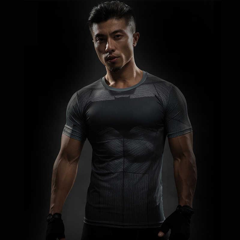 2019 marvel batman camicia di compressione di fitness Calzamaglia quick dry manica corta t camicia Degli Uomini di Estate tee top abbigliamento