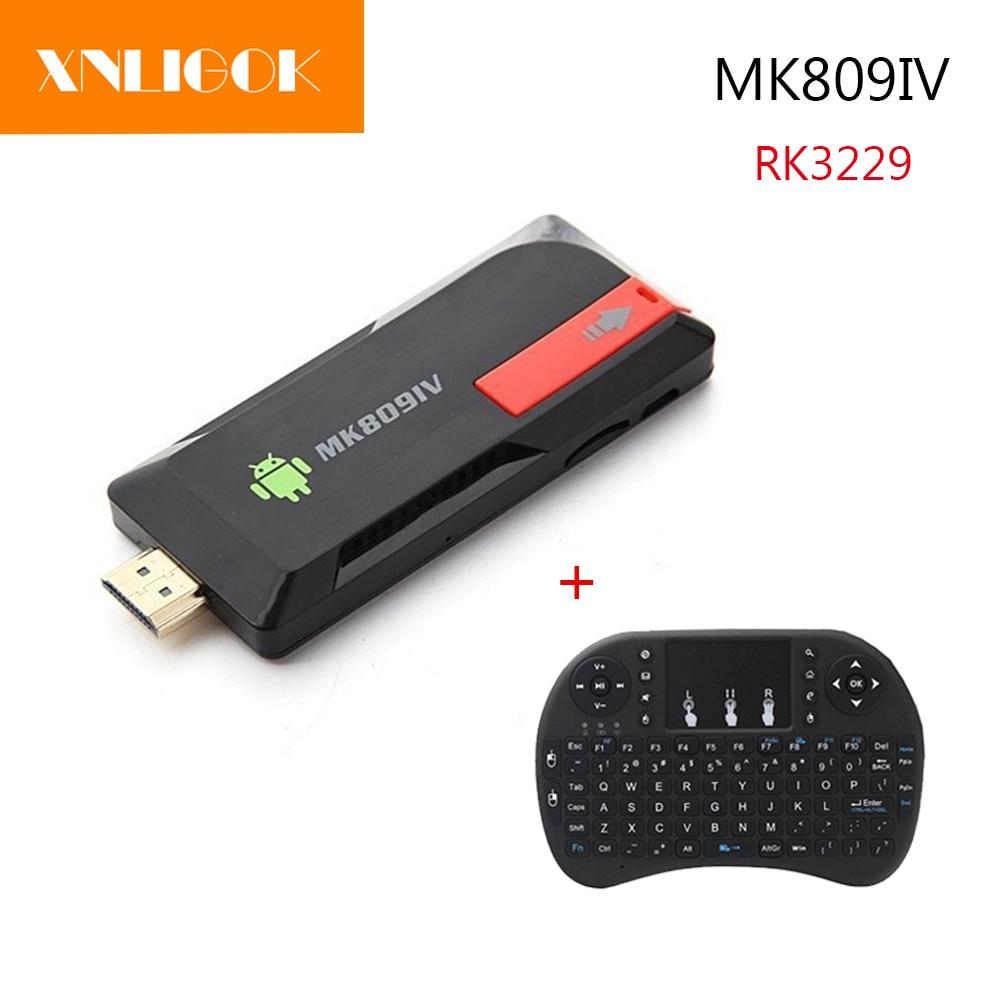 NEWest MK809IV Smart TV Stick Box 2G/8G 2G/16G Android 5.1 HD Mini PC Quad Core RK3229 4K WIFI BT 3D Media Player KD TV BOX