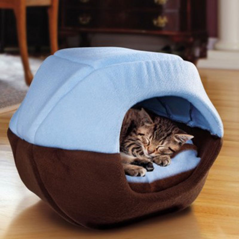 Hot New Winter Cat Dog Bed House Foldable Soft Warm Animal Puppy Cave Sleeping Mat Pad Nest Kennel Pet Supplies LXY9 JA11