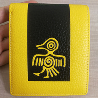 Sunbird Yellow Women Short Wallets Genuine leather Women Purses ID Card Holder Ladies Card Bag Purse Money With Gift Box