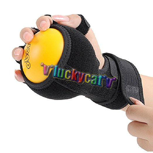 1Pc Good Quality Finger Orthosis Hand Ball Rehabilitation Exercise Training finger device finger wrist hand orthosis with ball stroke hemiplegia rehabilitation training equipment