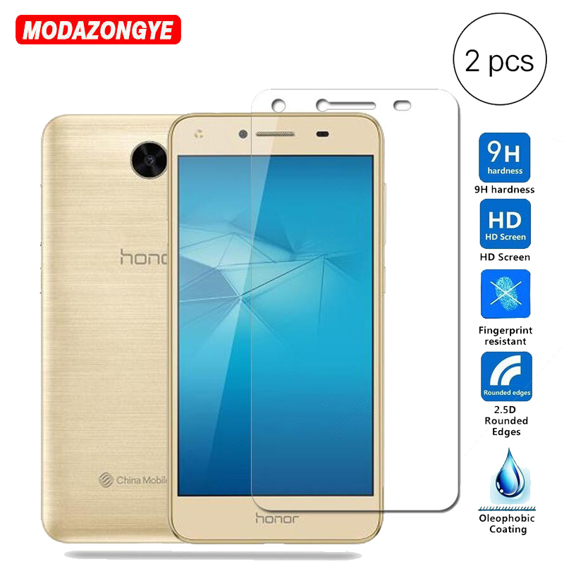 Galleria fotografica 2pcs Tempered Glass For Huawei Y5 II Screen Protector Film Protective Glass For Huawei Y5 II 2 Y5II Cun-U29 Cun-L21 Cun L21 U29