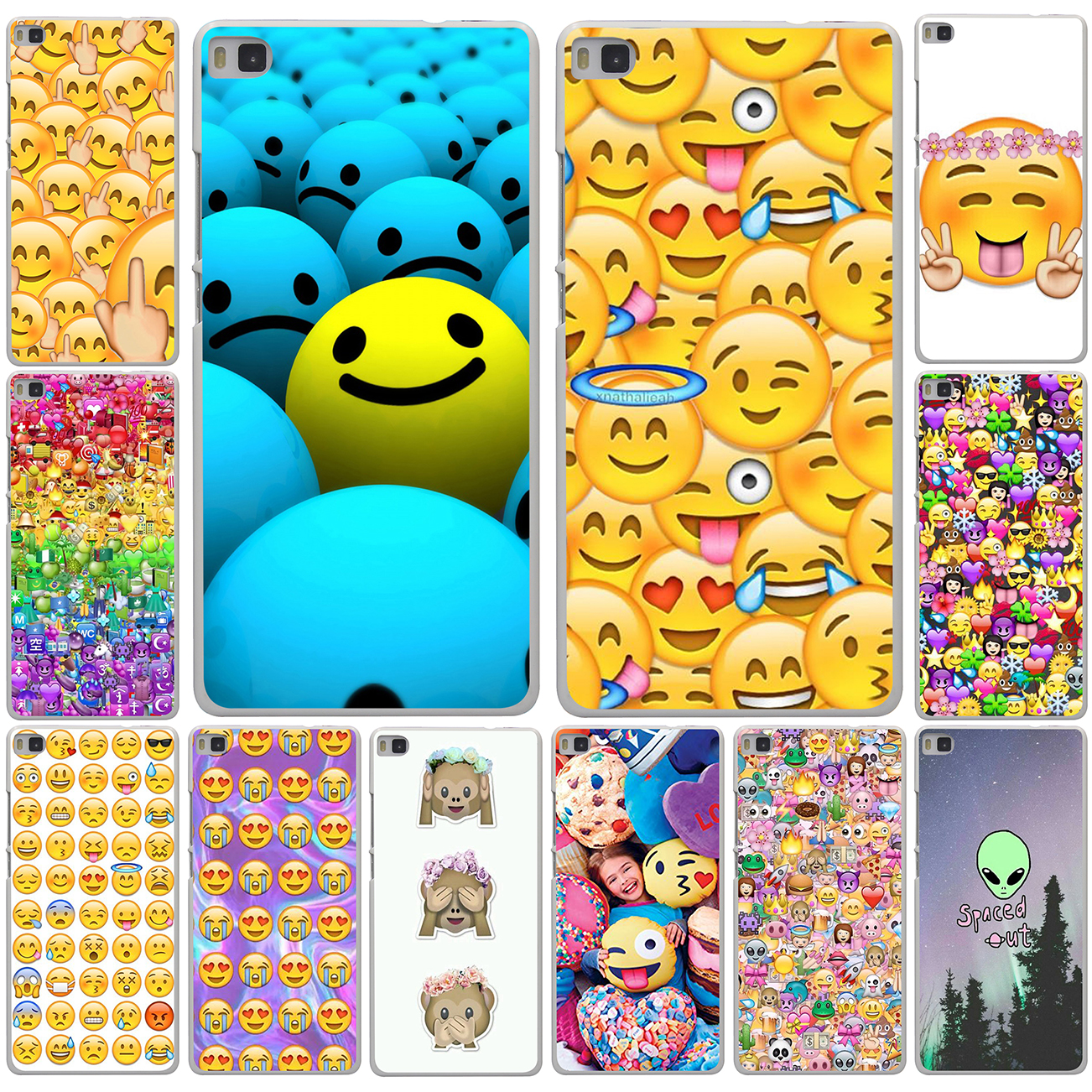 coque huawei p8 lite smiley