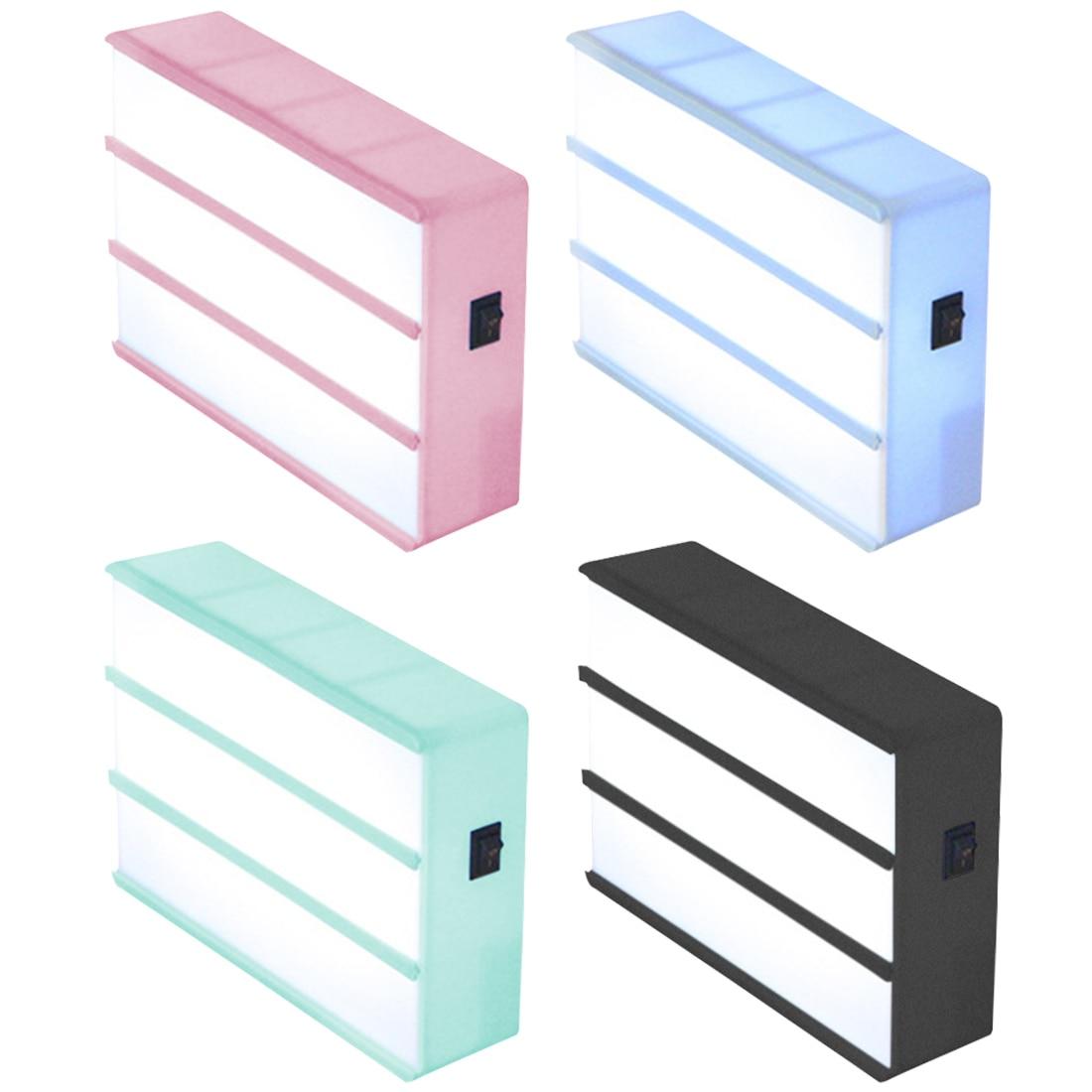 Nouveau A4 Taille LED Combinaison Boîte à Lumière Nuit Lampe DIY Noir Lettres Cartes USB Port Alimenté Cinéma Lightbox
