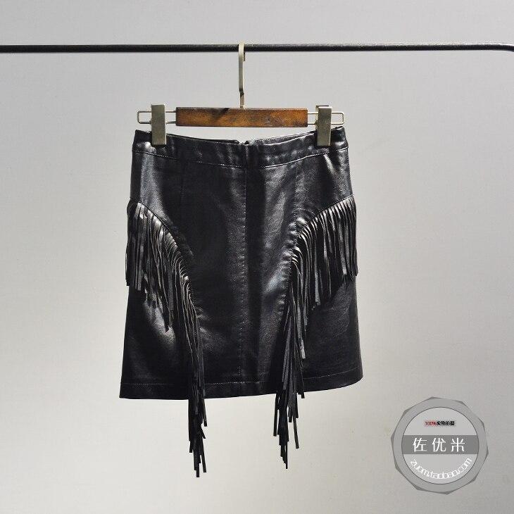 Negro 2017 Alta Mujer Sólido Llegada Larga Especial Faldas Palabra Pu Falda Lolita Paquete Borla Primavera Oferta Cintura Una De 2016 Hip Nueva O1pvnqvf