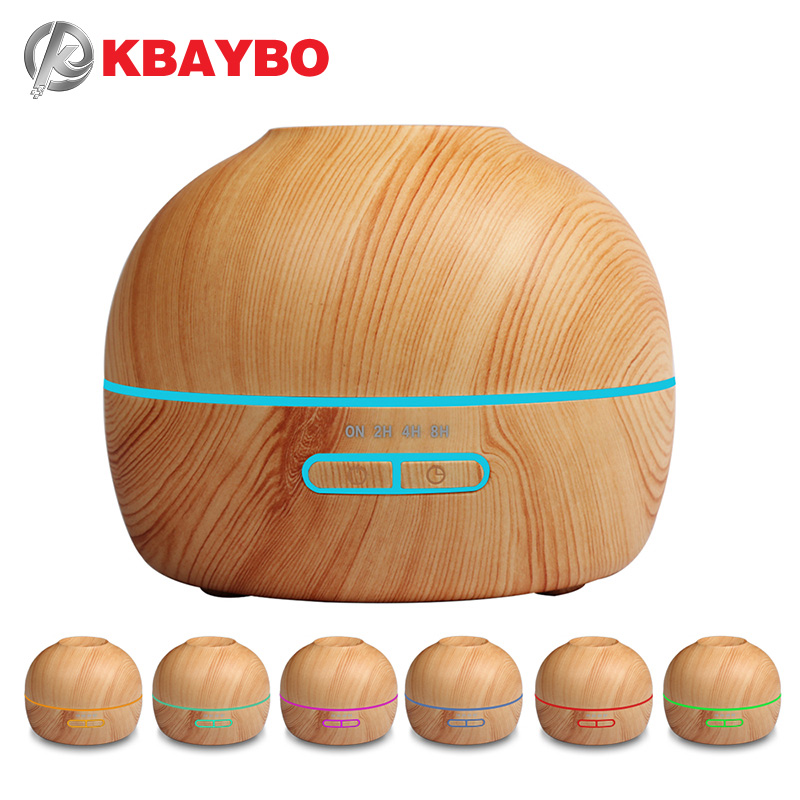 все цены на Aroma Essential Oil Diffuser Ultrasonic Cool Mist Humidifier Wood Grain With 7 Color LED Lights Aromatherapy Mist Maker for Home онлайн