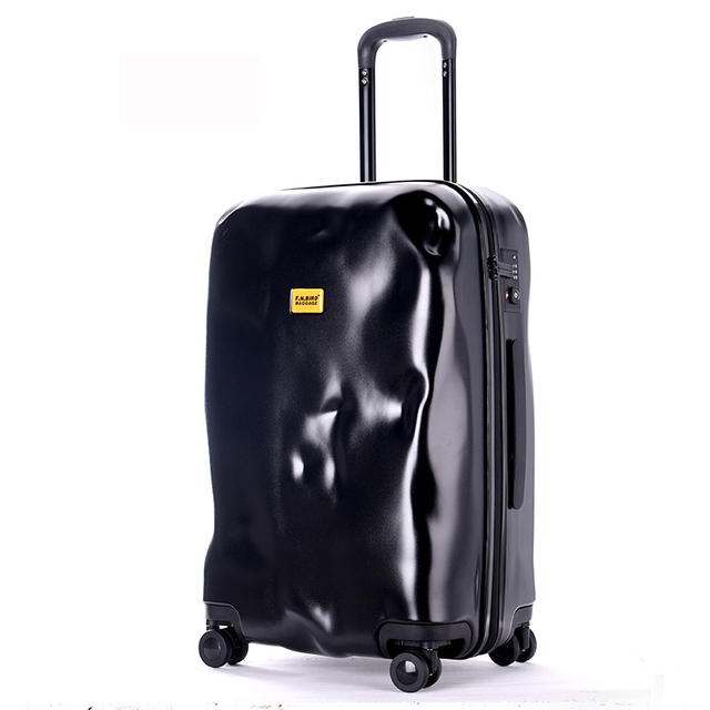 2016 New fashion crash mode solid zipper design trolley suitcase/TSA Lock Luggage Suitcases/women and Men ABS Spinner Luggage