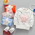 2017 new fashion children cartoon long sleeved T-shirt all-match Korean star fashion jacket  direct foreign trade
