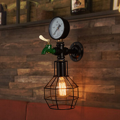 IWHD Vintage Industrial Loft Style LED Wall Lamp Iron Water Pipe Wall Light Retro Wall Sconce Fixtures For Indoor Home Lighting vintage wall lamp retro wall light loft luminaire home lighting industrial wall sconce modern 220v light fixtures abajur e27