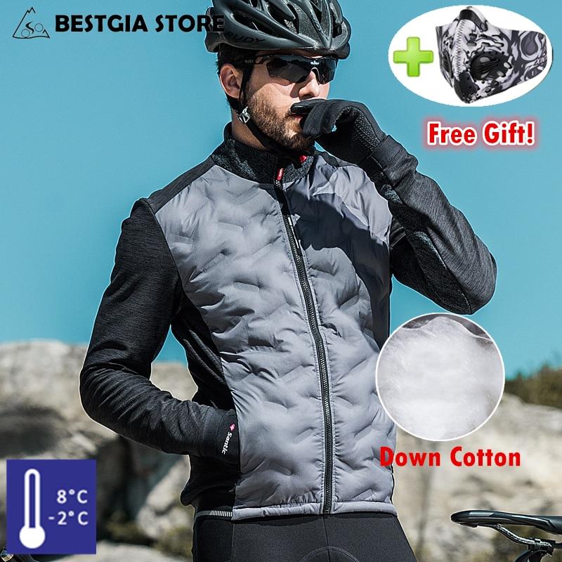 Santic 2019 hommes hiver garder au chaud vestes de cyclisme ultraléger en coton veste manteau pour Tour de France vélo vêtements d'extérieur