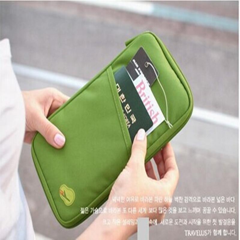 200 PC Unisex Travel Passport Credit ID Card Cash Wallet Purse Holder Document Bag Handbag Zipper Makeup Organizer