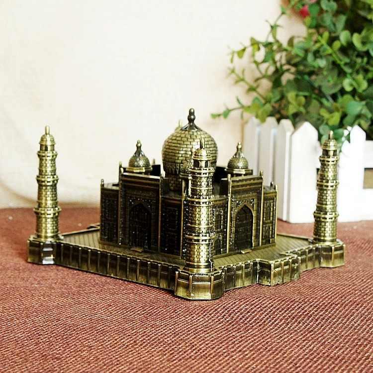 GLOGLOW India Taj Mahal Model Ornaments Famous Landmark Building Model Taj Mahal Tajmahal Replica Model Home Office Desktop Ornaments