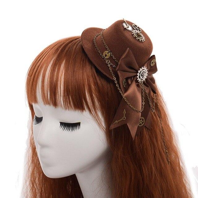 Шляпа лолита в стиле стимпанк 3