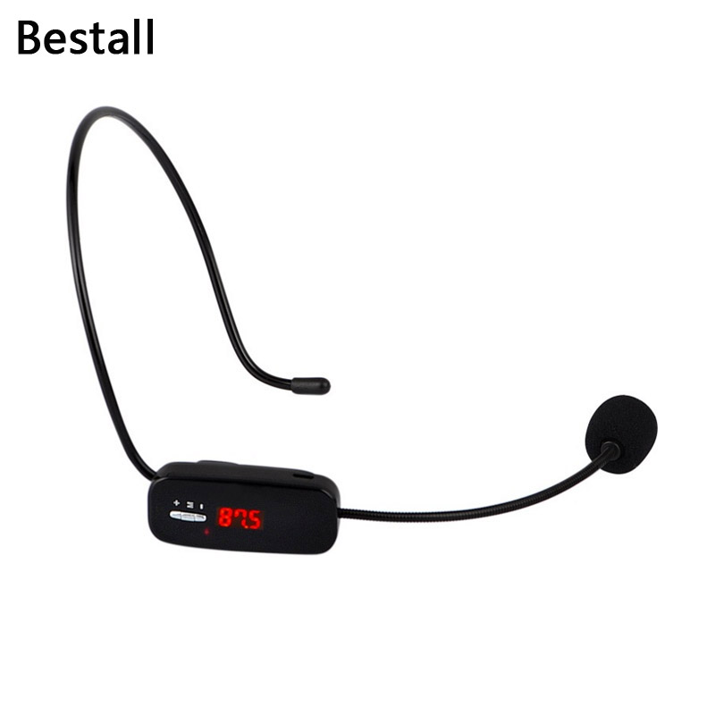 Bestall Radio FM Wireless Microphone Headset Megaphone Mic