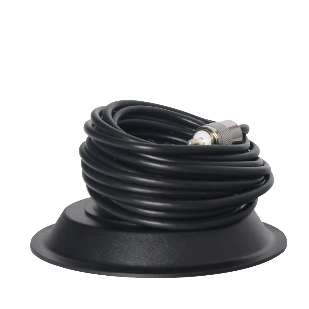 UHF PL259 Portstik 5M Feeder Cable + 13cm Magnet Mount Bracket til Car Radio Amatør Ham CB Two Way Radio Antenne Base