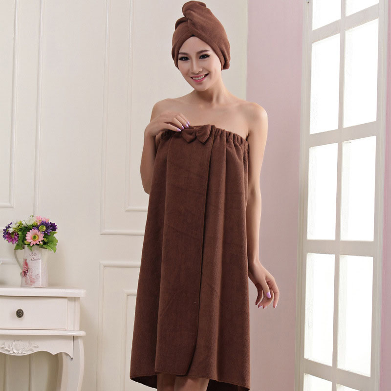 Hot New Arrival Quick-drying Women Bathroom Skirt Towel 73x140cm Absorbent Butterfly Microfiber Beach Dry Hair Bath Towel Sets