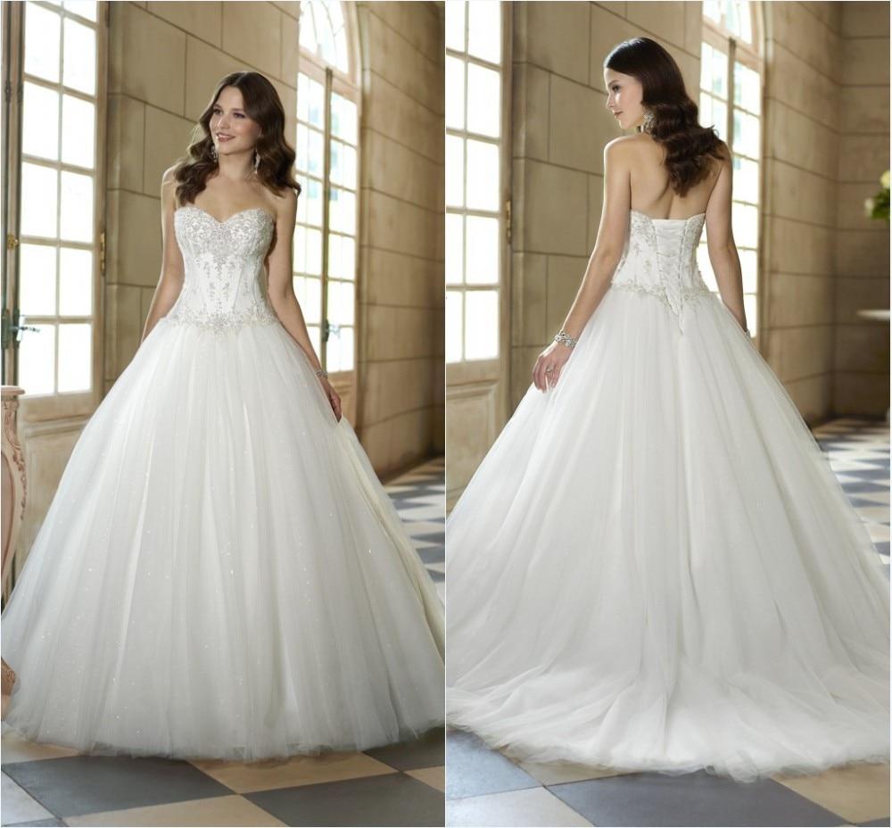 2014 New Designer Model Drop Waist Wedding Dresses Free