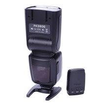 Flash FK380G para cámara Digital Canon EOS, cámara EOS delantal, cámara Digital Nikon con Flash inalámbrico
