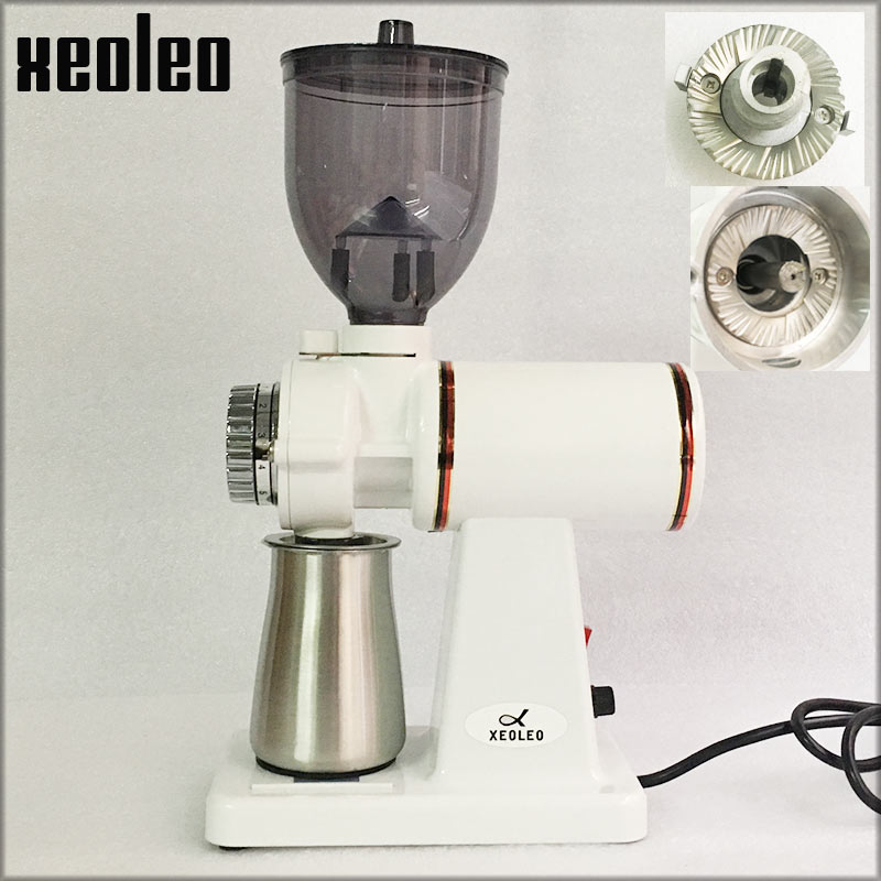 XEOLEO 60mm Conical Burr Coffee Grinder 150W Electric Coffee grinder Household Coffee miller White/black 250g Milling machine g520 one pound commercial coffee for sale electric burr grinders machine infinity conical burr grinder