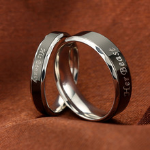 Couple Rings Wedding Jewelry For Lovers Her Beast His Beauty Ring Stainless Steel Rings Engagement Promise Jewelry