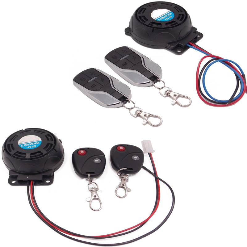12V Motorcycle Alarm Universal Motorcycle Security Alarm System Dual Remote Alarms for Motorbike Scooter Accessories Anti-theft