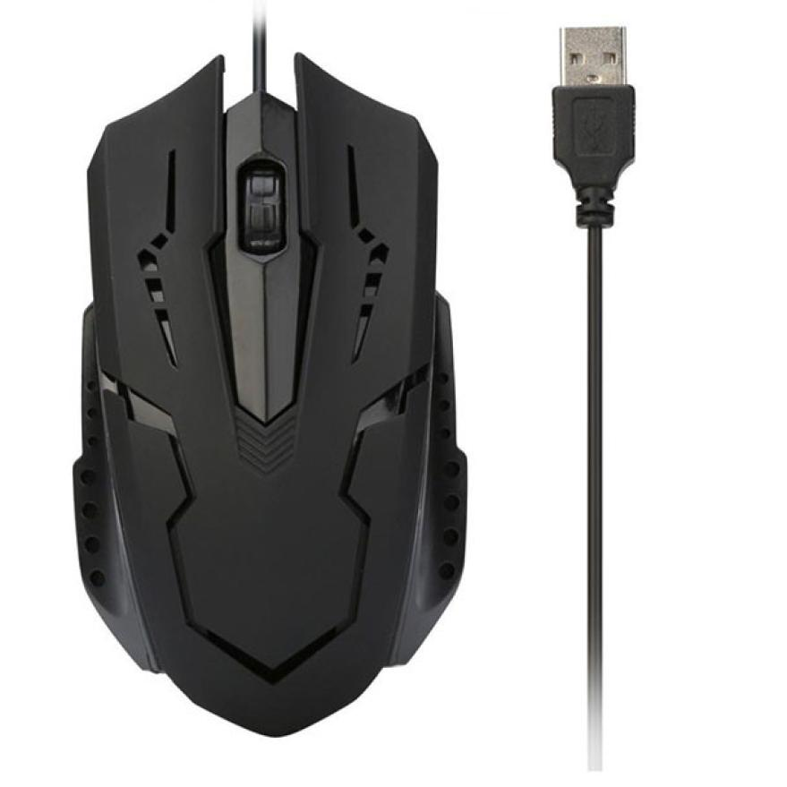 New 1pc 1200 DPI USB Cable Mouse Optical Gaming Mouse Wired For Computer PC Laptop fe8