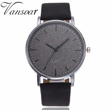 Drop Shipping Unisex Watches Women Men Casual Fashion Leather Strap Quartz Wrist Watches Clock Relogio Feminino