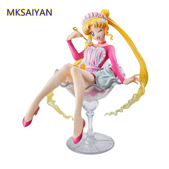Sailor Moon Tsukino Usagi 20th Anniversary Sweet Kawii Anime Figures Collector Girl Gift Juguetes Action Figma Collectible Toy twinkle dolly anime sailor moon tsukino usagi serenity luna black lady pvc action figure anime model kids toys doll 6cm 5pcs set