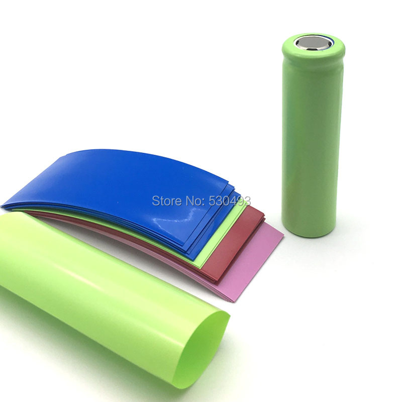 20pcs/lot For 20700 Battery Wrap PVC Heat Shrink Tubing Sleeving Pre-cut Each 77mm Batteries Covering