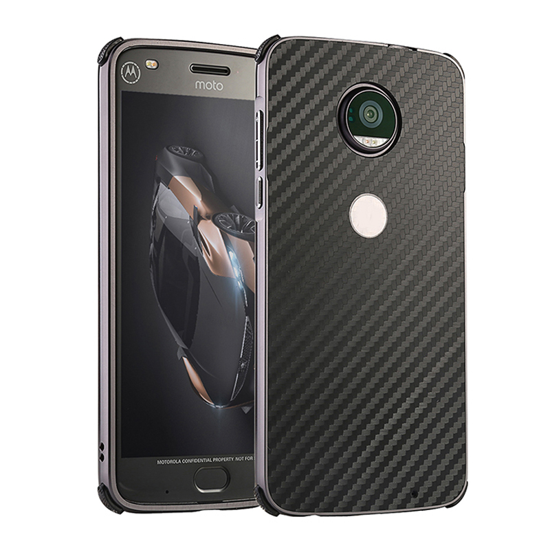 Aluminum Metal Bumper for Motorola Moto Z2 Force Moto Z2 Play Case Luxury Frame PC Back Cover for Coque Moto Z2 Force Case