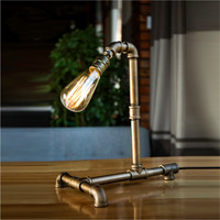 Industrial Rustic Steampunk Metal Ppie Edison Bulb Light Vintage Table Lamps Balcony With Free Bulb