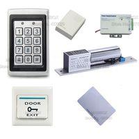ACSS17 Regendicht Deur Toegangscontrole Systeem Kit ID/EM Reader & toetsenbord + Elektrische Bolt Lock + Voeding