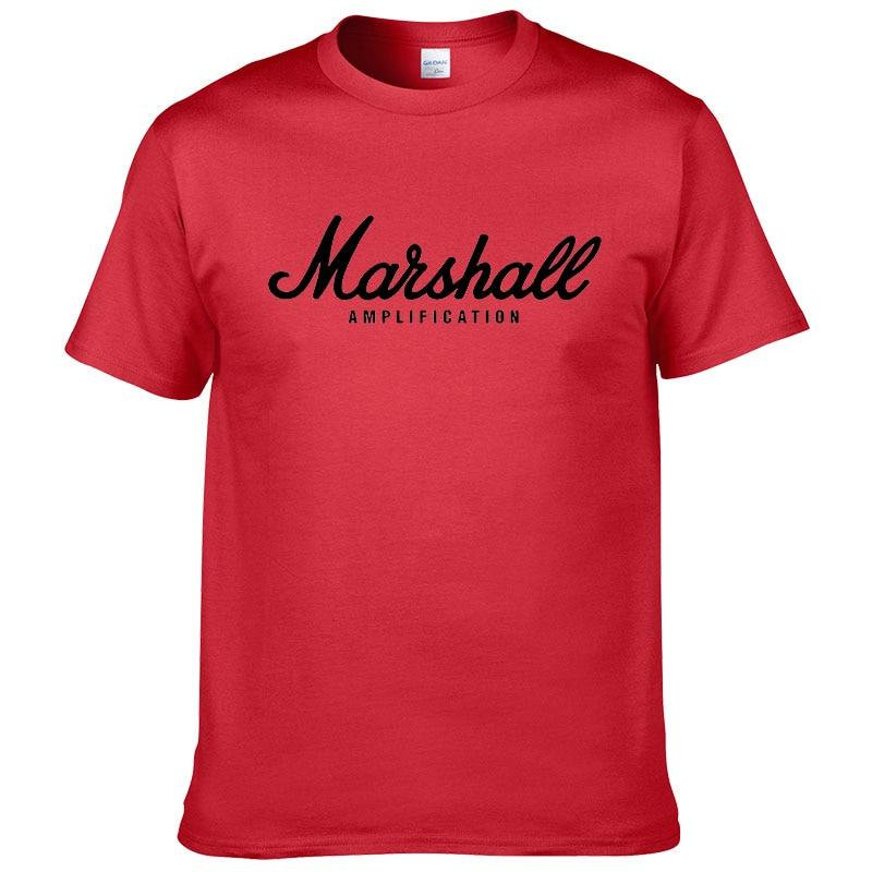 100% cotton Marshall T Shirt men short sleeves tee hip hop street wear for fans hipster 35