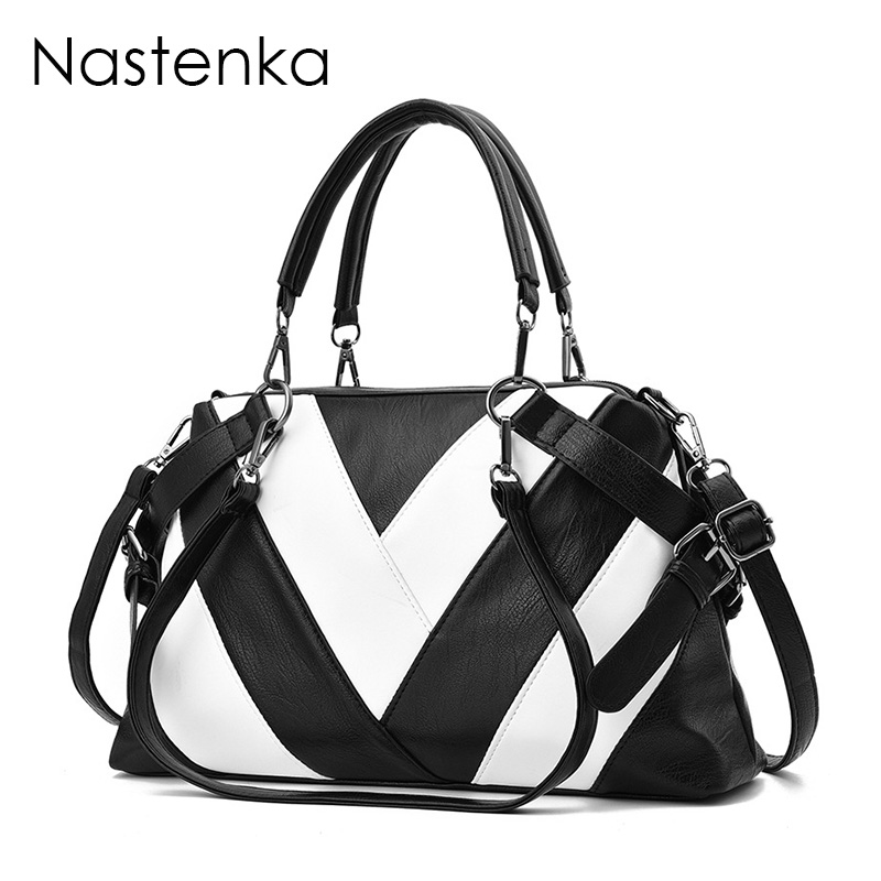 Nastenka Luxury Handbags Women Bags Designer Brand Famous Sac Femme Shoulder Bag Ladies Vintage Pu Leather Tote Bag Dames Tassen lapel pea coat in wool blend