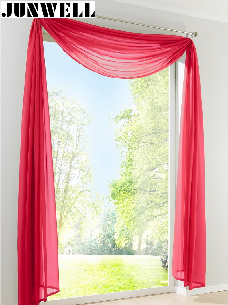 Hot Sale Multicolor Window Scarf European Style Valance Curtain Scarf Curtain For Living Room 11 Colors