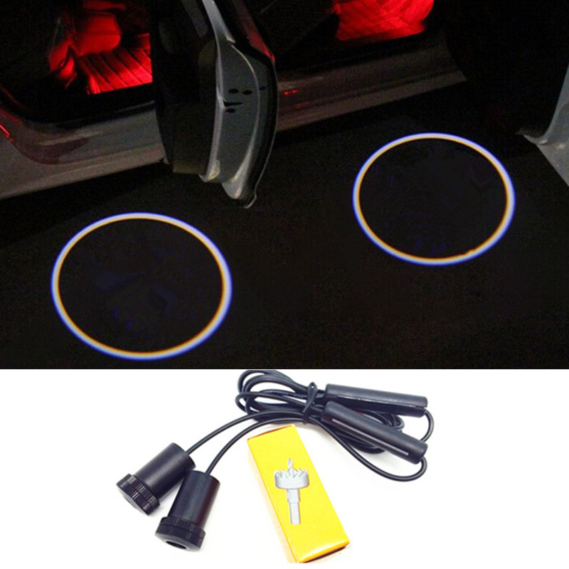 2 X car door light ghost shadow welcome light logo projector emblem For renault megane 2 duster logan clio laguna 2 Koleos