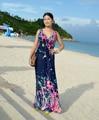 2016 Женщины платья лета V шеи безрукавный года бохо красное платья больших размеров 5XL 6XL Лонг-Бич платье сарафан