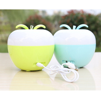 Christmas Gift Rechargeable colorful dimmable strange bright blow on off discoloration apple blowing switch portable night light